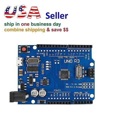 NEW UNO R3 ATMEGA328P CH340 Micro USB Development Board for Arduino