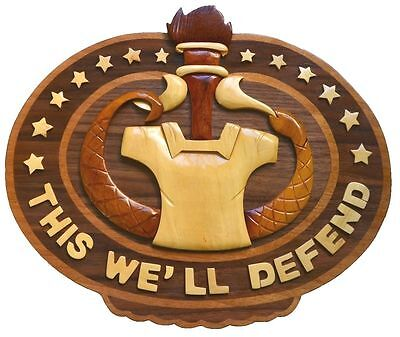 DRILL SERGEANT BADGE - ARMY PLAQUE - Handcrafted Wood Art Military Plaque