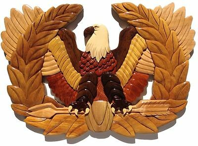 CHIEF WARRANT OFFICER RISING EAGLE PLAQUE - Handcrafted Wood Art Military Plaque