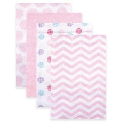NEW Luvable Friends 4-Pk Receiving Blankets in Pink (Imperfection) FREE SHIPPING