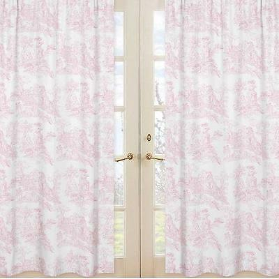 NEW Sweet Jojo Designs French Toile Window Panel Pair in Pink FREE SHIPPING
