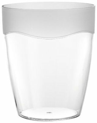 CNHF-BAAFRWB-Carnation Home Fashions Clear Acrylic Waste Basket with Frosted Cl