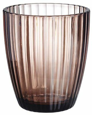 CNHF-BAABRTU-Carnation Home Fashions Brown Ribbed Acrylic Tumbler