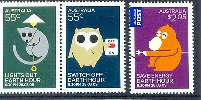 Australia-Earth Hour set of 3 mnh (3155-5)