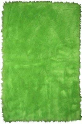 DOBK-15690065-Fun Rugs FLK-004 3147 Flokati Accent Rug, Lime Green 31-Inch by 4