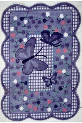 DOBK-15690347-Fun Rugs TSC-225 3958 Purple Butterfly Accent Rug, 39-Inch by 58-