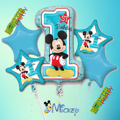 Mickey Mouse 1st Birthday Baby boy shower balloon balloons foil