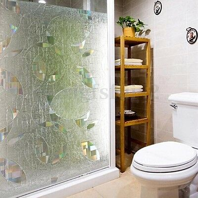3D Static Cling Window Film Sticker Door Glass Paper Frosted Privacy Vinyl Cover