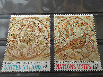 Série 2 timbres neuf ONU New York 1969 : L'Art aux Nations Unies