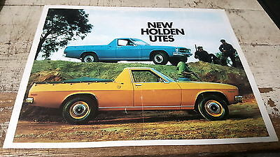 1972 HOLDEN HQ UTE New Zealand Sales Brochure  VERY RARE