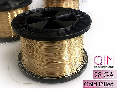 6meter (19.7 feet) yellow gold filled wire, 28 gauge (0.3mm) - available in bulk