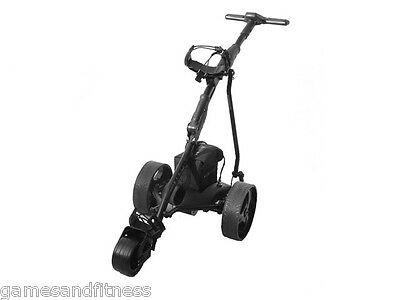 Hillman Ranger Electric Golf Trolley with 33ah Battery Black with USB Port