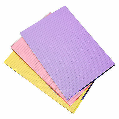 3 x Memory Aid Colour 100 Page A4 Paper Notepad Lined Refill Memo Writing Pads