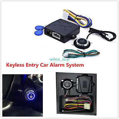 Car Engine Push Start Button RFID Lock Keyless Entry Start Stop Ignition Starter