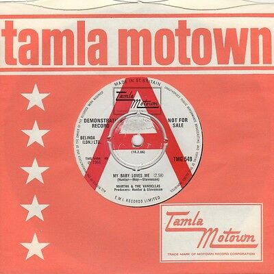 Martha & The Vandellas - My Baby Loves Me / Never - Tamla Motown Demo Tmg 549 -