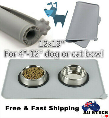 Silicone Pet Food Feeding Mat for Dog Cat Placemat Dish Bowl Non-Slip Non-Toxic
