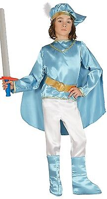 Boys 5 Piece Blue Prince Book Week Historical Fancy Dress Costume Outfit 3-9yrs
