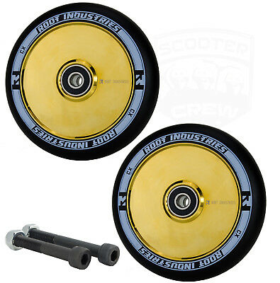Root Ind. Air 110mm Gold Rush Scooter Wheels With Bearings + Free Axles