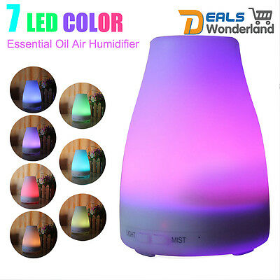 Aromatherapy 120ml Essential Cool Mist Aroma Diffuser Air Humidifier 7 LED Color
