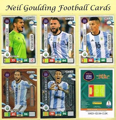 Panini ROAD TO WORLD CUP 2018 ☆☆ ARGENTINA ☆☆ Football Cards #ARG01 to #ARG18