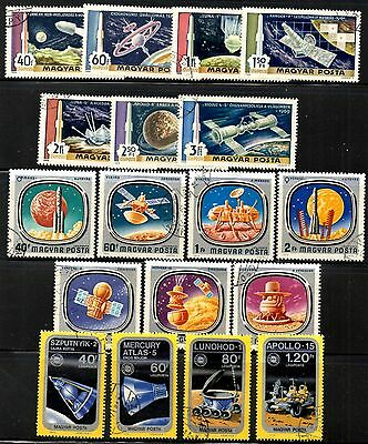 (Ref-10197) Hungary - Selection With Space Theme From 1969 Onwards  Used (CTO)