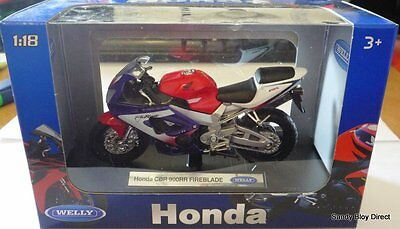 Honda CBR900RR Fireblade Motorcycle model by Welly (WEL12164) Scale 1:18 Gift