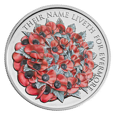 2016 Remembrance day £5 Poppy UK Brilliant Uncirculated Coin Royal Mint NEW