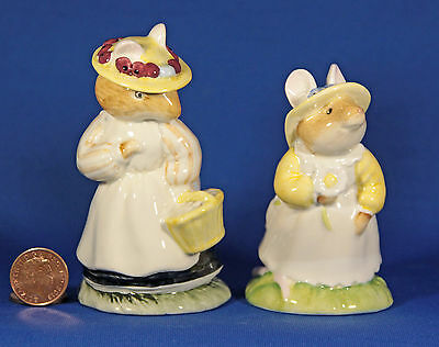 2 Royal Doulton Brambly Hedge Figurines – Dbh5 Lady & Dbh8 Primrose Woodmouse