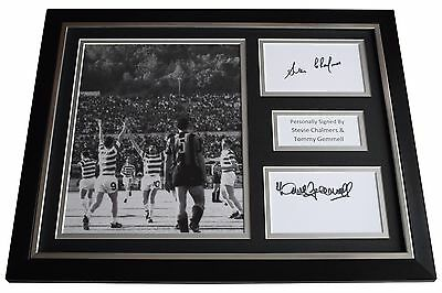 Stevie Chalmers & Tommy Gemmell Signed FRAMED Photo Autograph 16x12 display COA