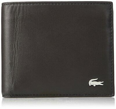 Lacoste Men's M Billfold Wallet Coin Key Ring Brown