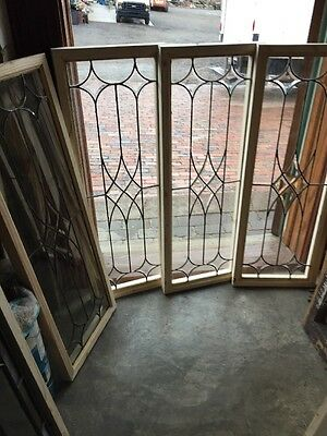 Sg 1411 4Available Priced Each Leaded Beveled Transom Window 14 X 38""