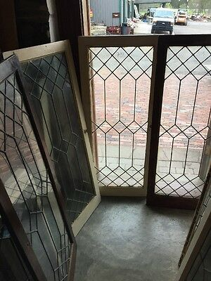 """Sg 1413 5 Available Price Each Leaded Glass Window /cabinet Dr 20 X 48"""""""