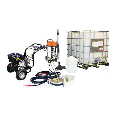 Petrol Pressure Washer Vac Drain cleaner patio rotating Cleaning Business Pack