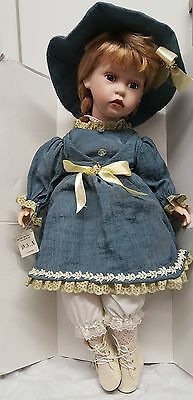 MA17 The Curzon Collection Very Large Porcelain Doll D.S.Nicholass Vintage Doll