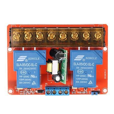2-channel 250VAC 30A Solid State Relay Module Board High/Low Level Trigger X6G6