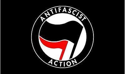 ANTI FASCIST ACTION 5 x 3 FLAG Polyester 150cm x 90cm flags ANTIFASCIST ANTIFA