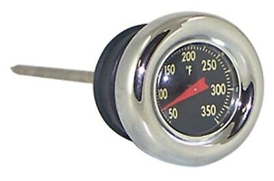 Black Face Oil Temperature Gauge Dipstick f Harley Softail 84-99 Sportster 82-03