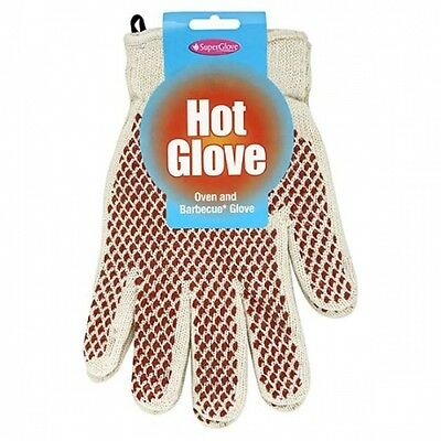 Pair of SuperGlove Hot Glove Oven & Barbecue Gloves Cooking Heat Resistant Mitts