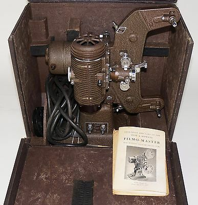 BELL & HOWELL FILMO-MASTER 400 8mm MOVIE PROJECTOR, tested working