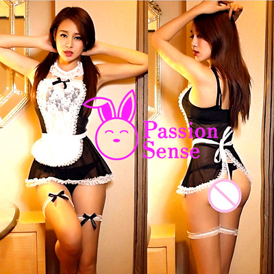 Women Sexy/Sissy Maid Costume Cosplay Outfit Lingerie (UK)
