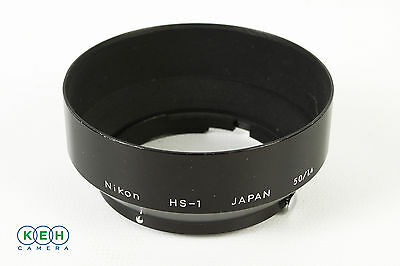 Nikon HS-1 Black Metal Lens Hood w/Chrome Release Buttons For 50mm F1.4