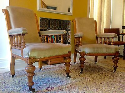 Victorian His  & Hers  Chairs           Purchased From      ( Drew Pritchard )