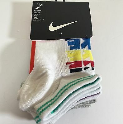 Nike  no show  socks Woman's size 4-6 Youth size 3Y-SY