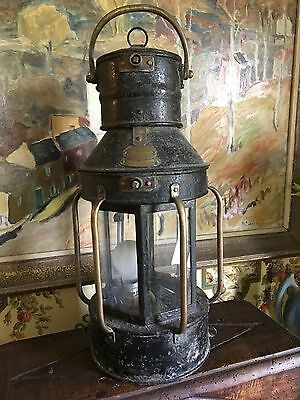 Antique French Lantern circa late 1800's made for German Policemen