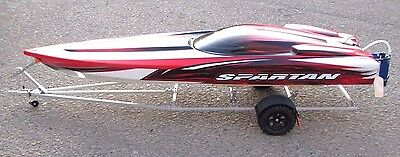 Traxxas spartan rc boat trailer aluminum kit rc boat crawlers accessories 1/10
