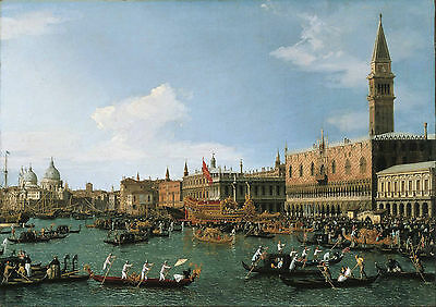 Canaletto: Return of 'Il Bucintoro' on Ascension Day. Art Print/Poster (3326)