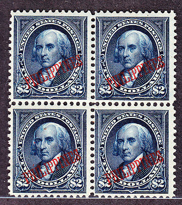 US Philippines 224 $2 Madison Mint Block of 4 VF OG 1VLH 3NH SCV $3800