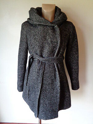 New Look Maternity Stylish Grey Twill Snood Jacket Coat Size 12
