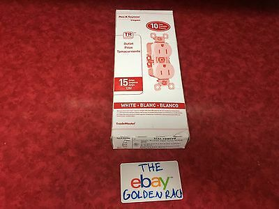 Pass & Seymour 3232-Trwcp8 White Duplex Outlet 15Amp 10 Pack