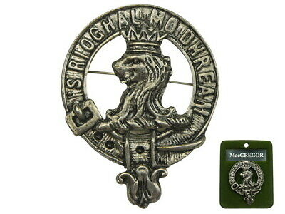 "2"" Scottish NEW Scotland Crest Pin Badge: MacGREGOR Clan Badge"